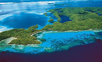 Aerial view of tropical islands - thumbnail