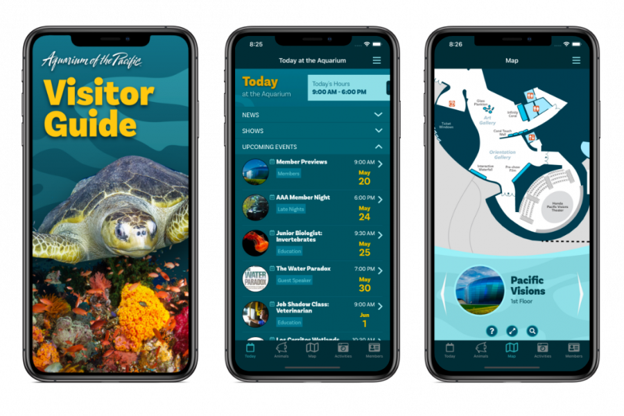 Visitor Guide App 2020 Screens 3-up